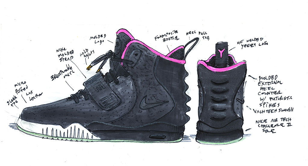 wholesale dealer b3864 923f8 nike-air-yeezy-2-black-solar-red-sketch-official-02 - SNKRVN
