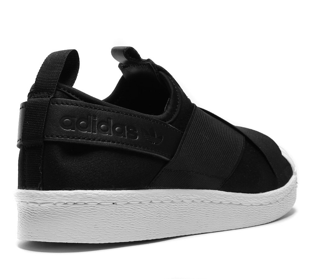 1330adidas Originals Womens Superstar Slip On Trainers in Black and White Casual Casual_2_LRG