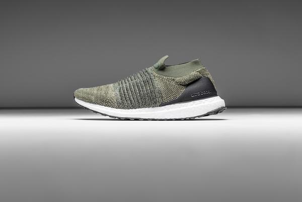 olive laceless sneaker