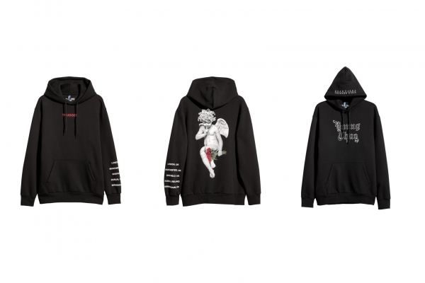 black hoodie with graphics