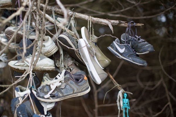 Abandoned sneakers