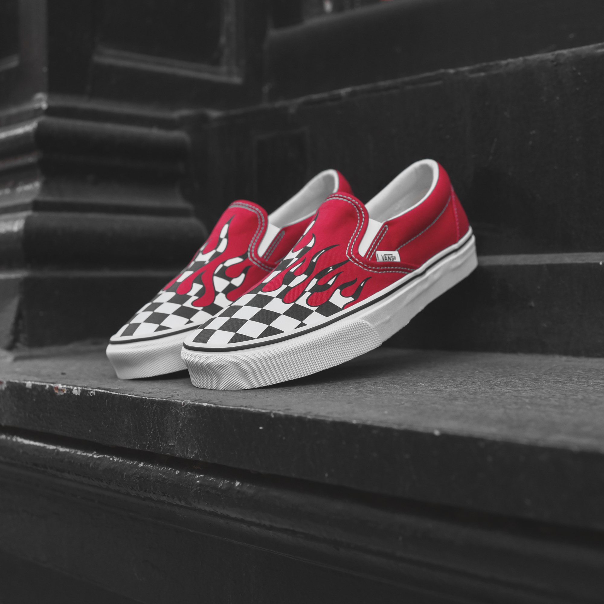 Top 10 red sneakers - Vans Checker Fame