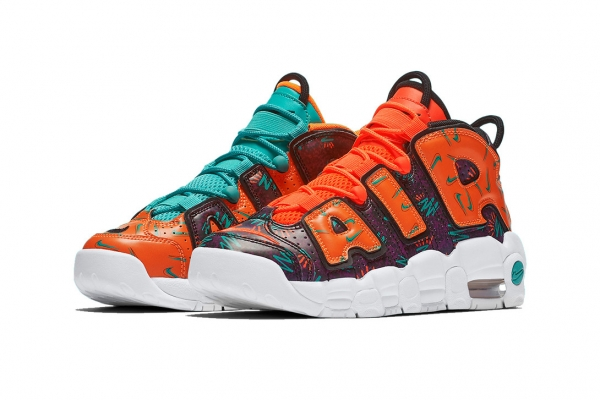 NIKE AIR MORE UPTEMPO GS 'WHAT THE 90'S PACK'