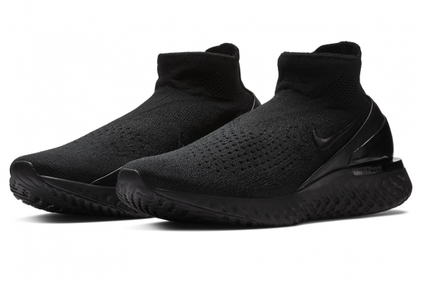 "Nike Rise React Flyknit ""Triple Black"""