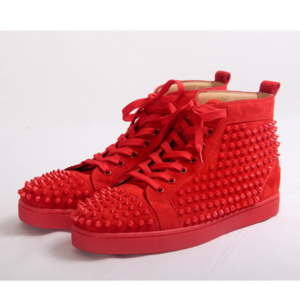 Christian Louboutin Spikes (Red)