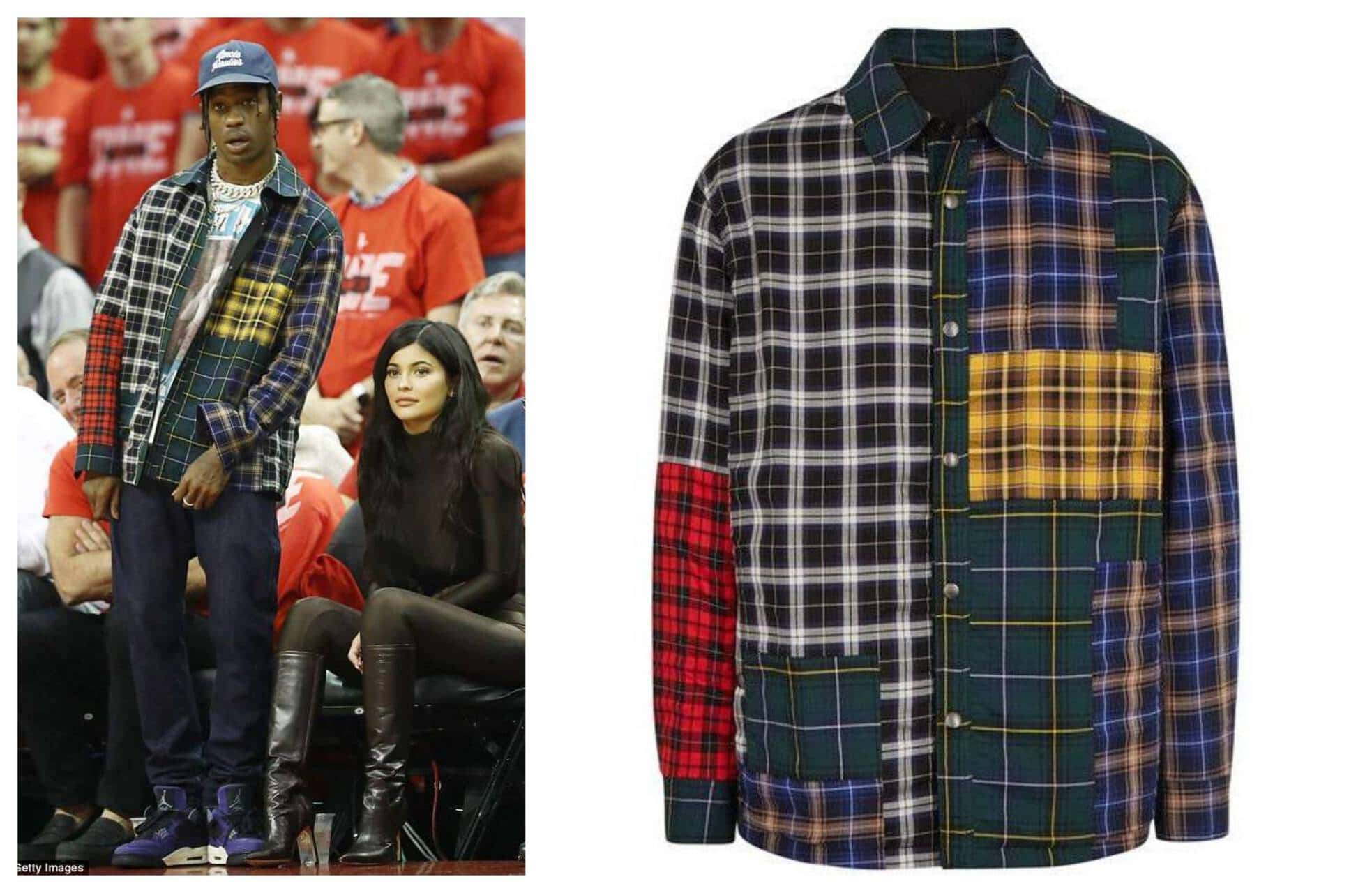 Lanvin Reversible Patchwork Flannel Travis Scott