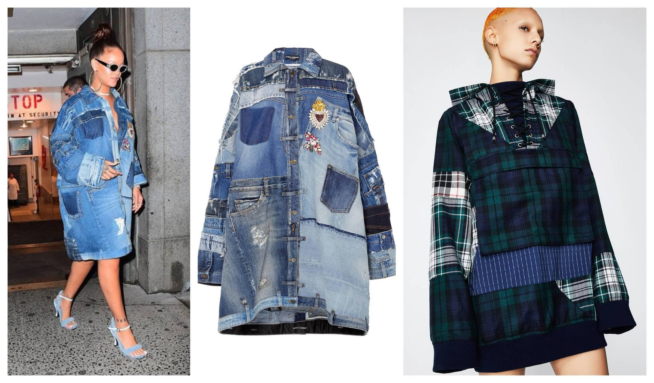 Patchwork Denim Rihanna