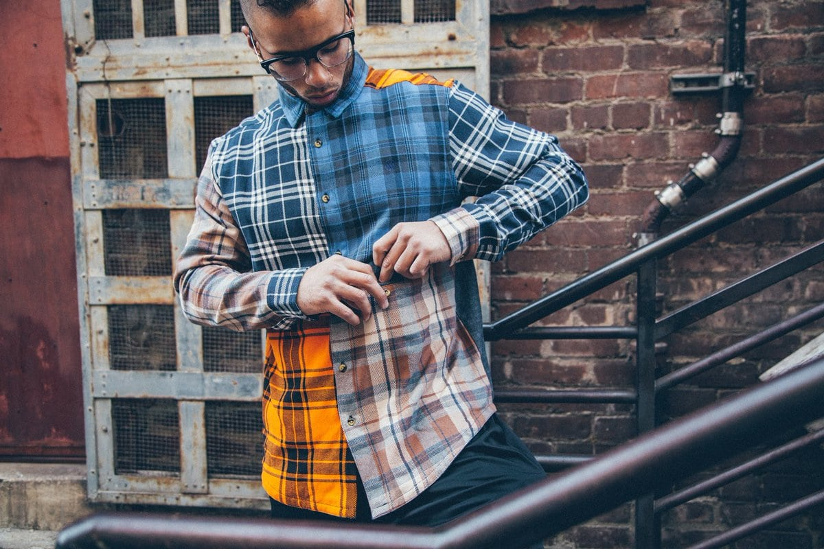 Patchwork Flannel Outfit Mix Match SNKRVN