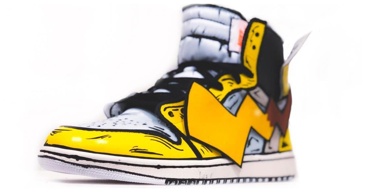Pikachu Air Jordan 1 Off-White