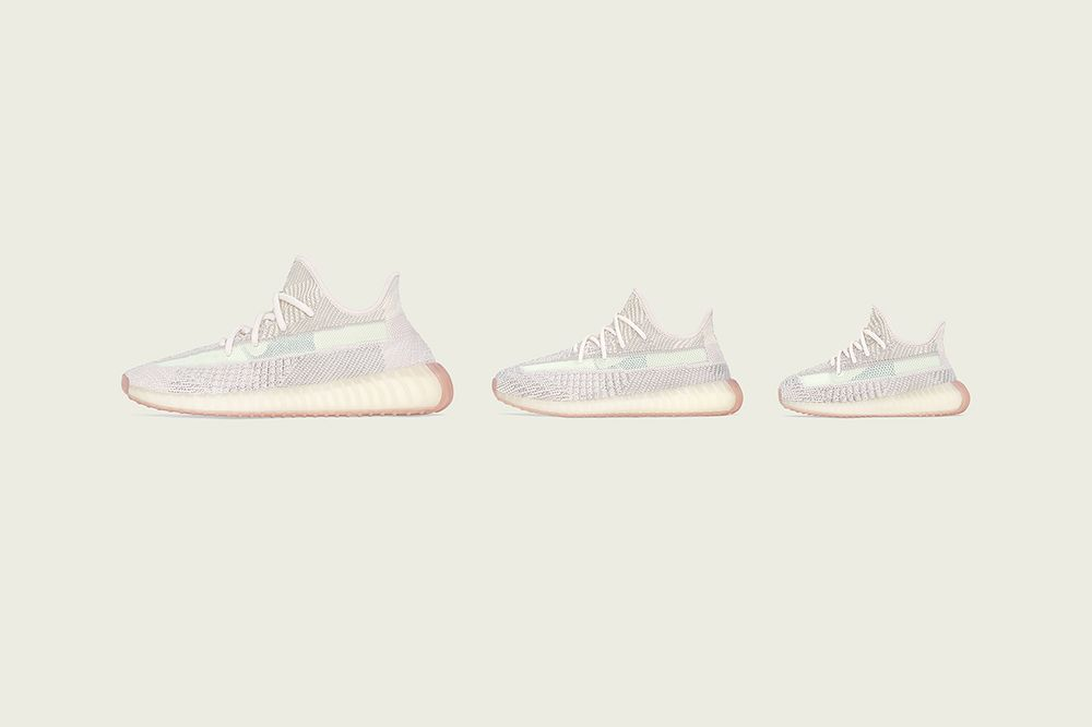 adidas original yeezy 350 v2 citrin leftside