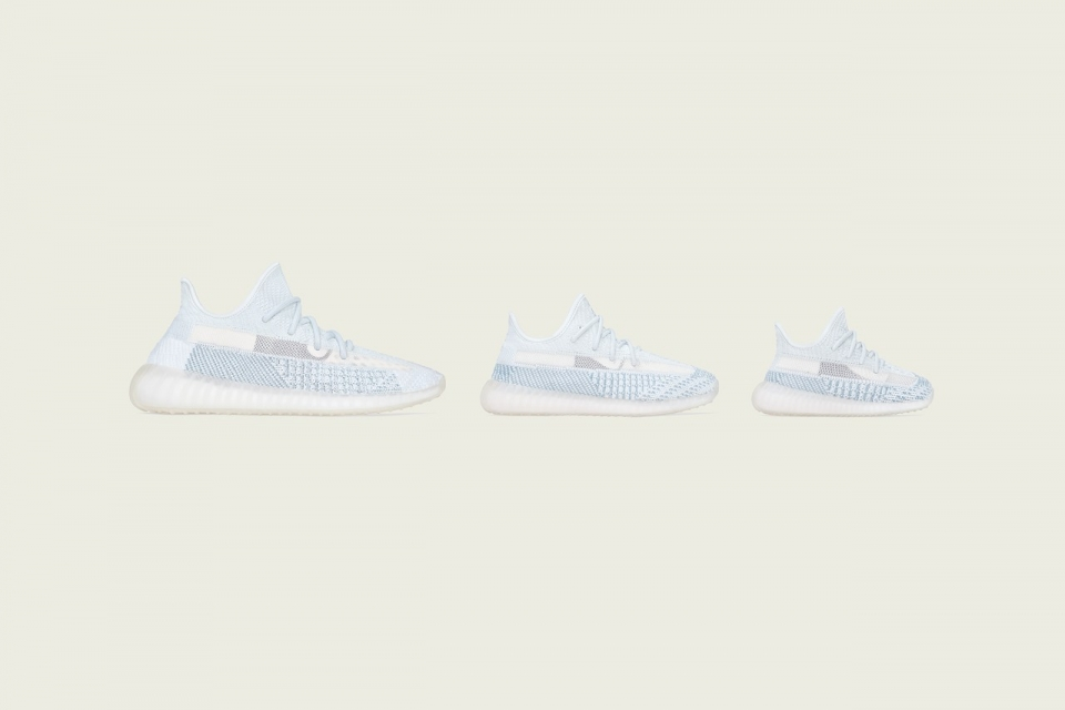 """adidas YEEZY BOOST 350 V2 """"Cloud White"""" will be released in full sizes for the whole family"""
