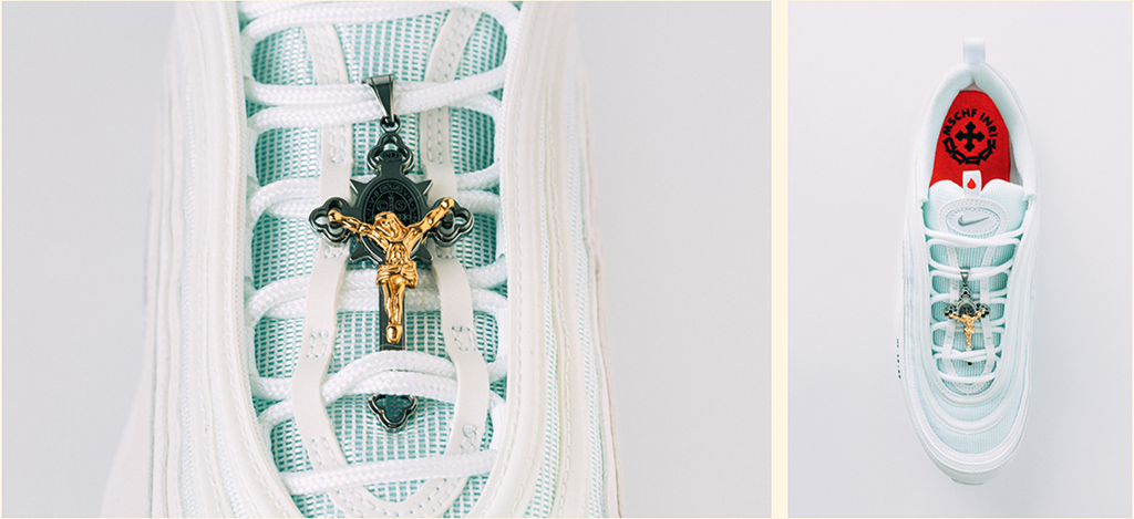 Jesus Shoes Water on Nike Air Max 97