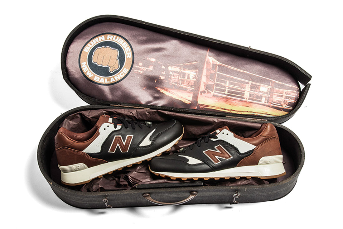 Burn Rubber x New Balance CM577BR (Joe Louis)