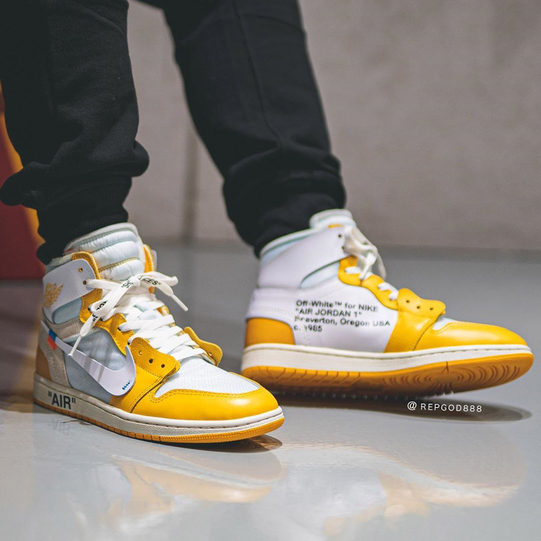 "Off-White™ x Air Jordan 1 ""Canary Yellow"""
