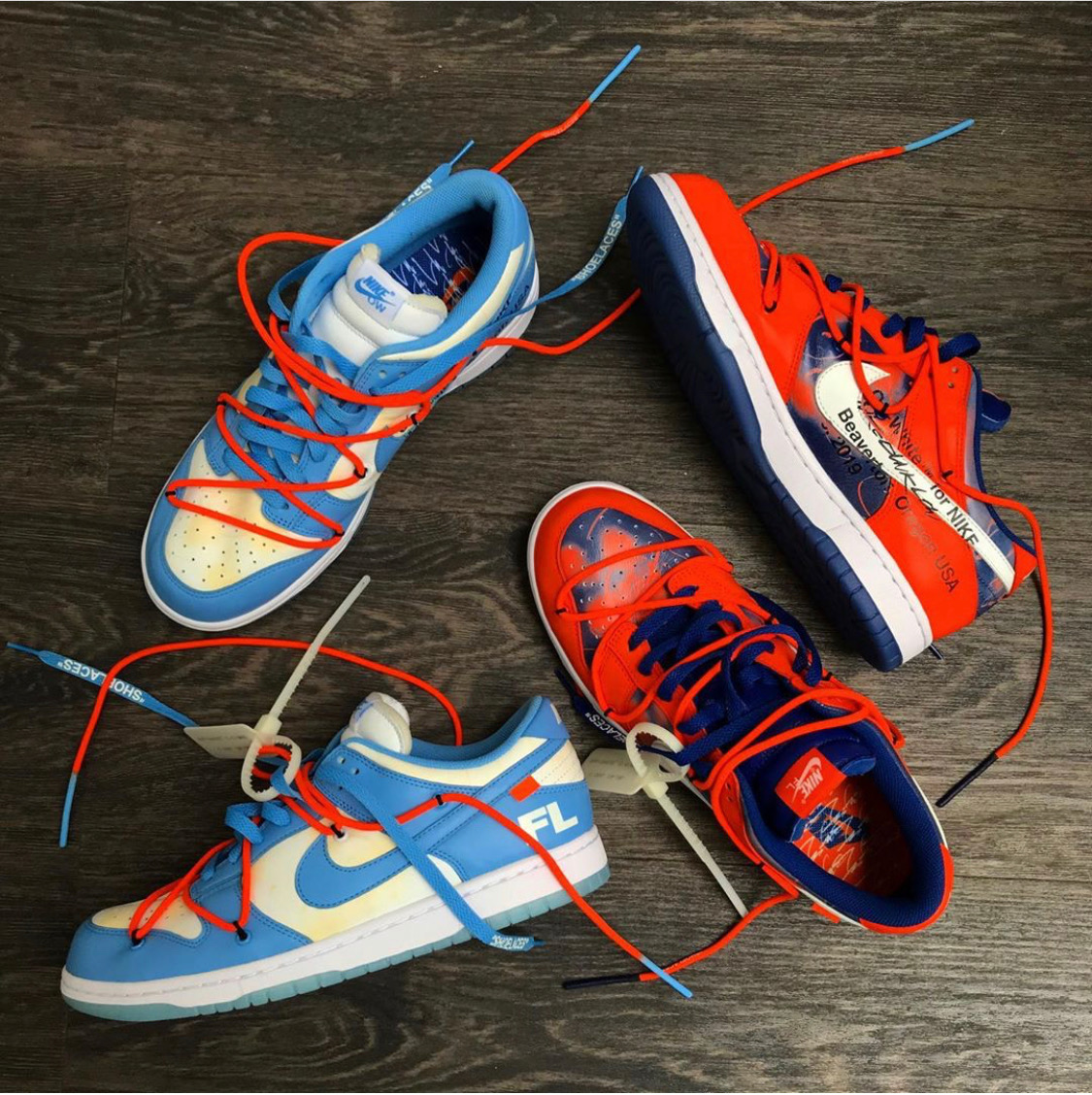 Off-White x Futura Nike SB Dunk Low