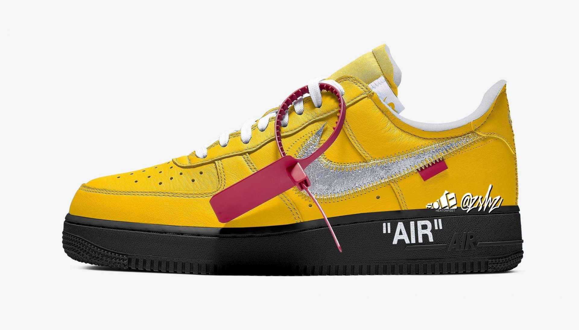 """Off-White x Nike Air Force 1 """"University Gold"""""""