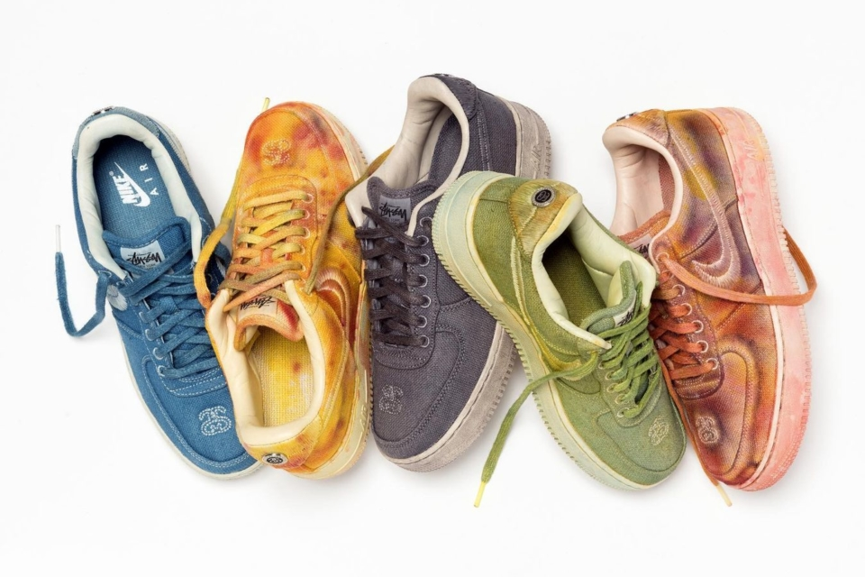Stussy x Nike Air Force 1 Hand Dyed