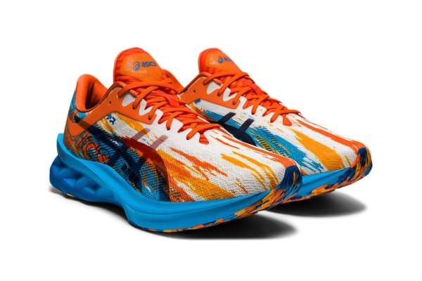 ASICS Novablast Digital Aqua Marigold Orange 5